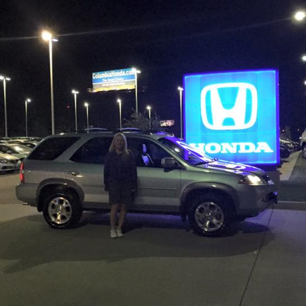 Columbia honda customer rating review for tamara for Honda dealer columbia mo