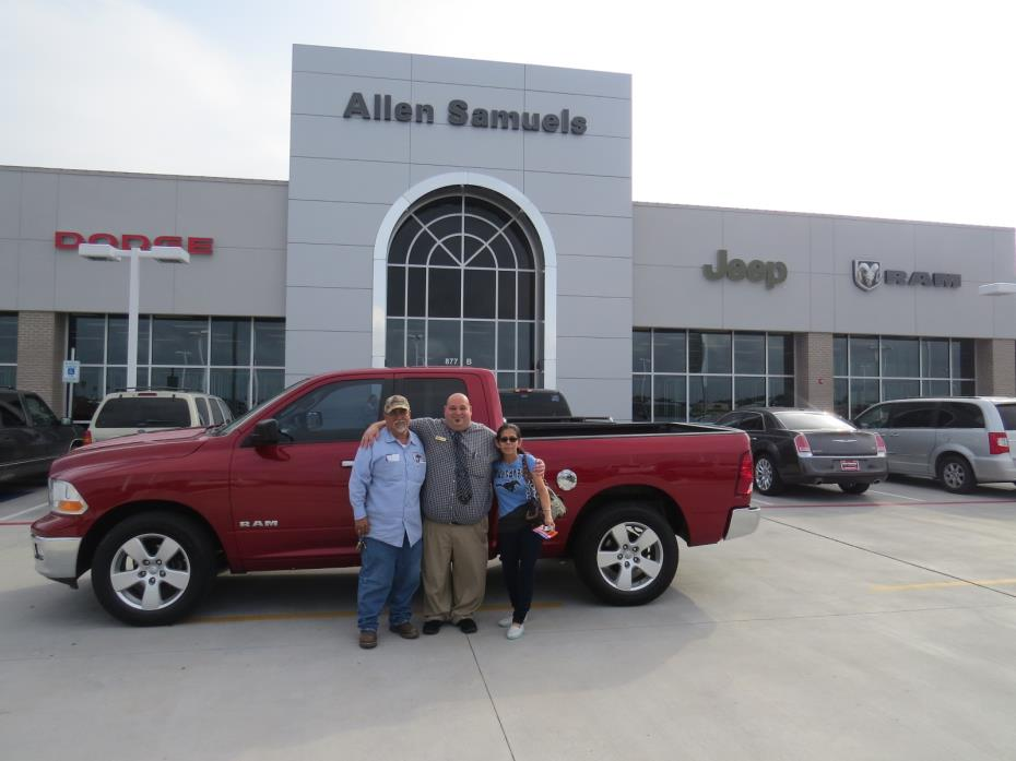 allen samuels chrysler dodge jeep ram customer rating review for saul adame of ingleside tx. Black Bedroom Furniture Sets. Home Design Ideas