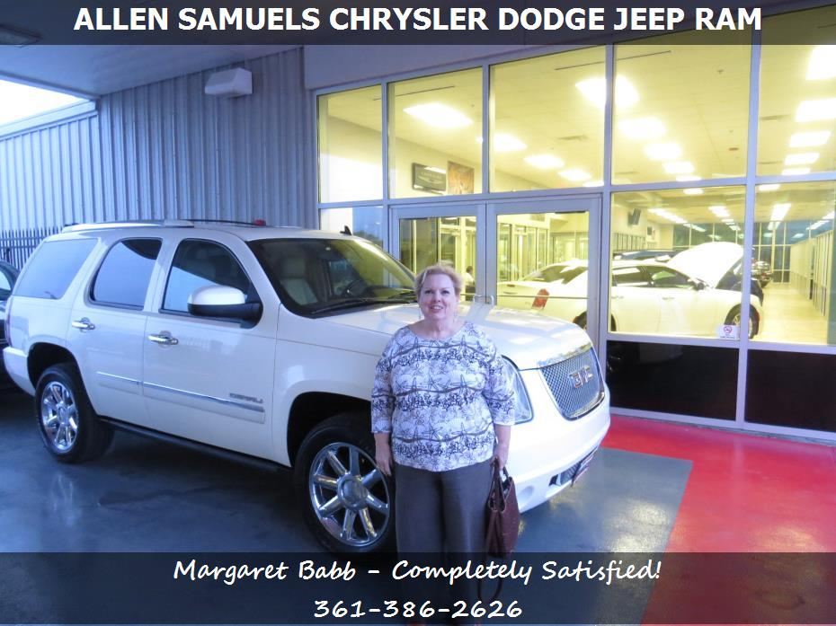 allen samuels chrysler dodge jeep ram customer rating review for margaret babb of bayside tx. Black Bedroom Furniture Sets. Home Design Ideas