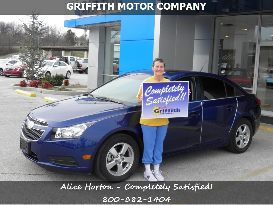 Purchase a chevrolet cruze in neosho mo griffith motor for Griffith motor co neosho mo