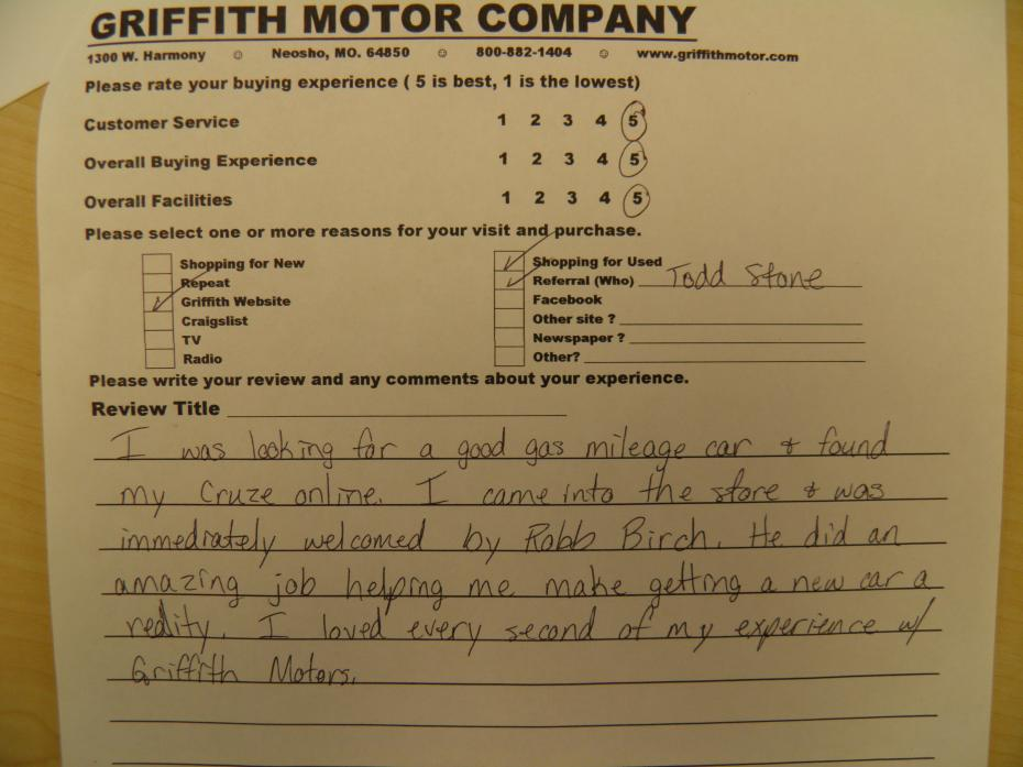 Griffith Motors Used Cars Neosho Mo