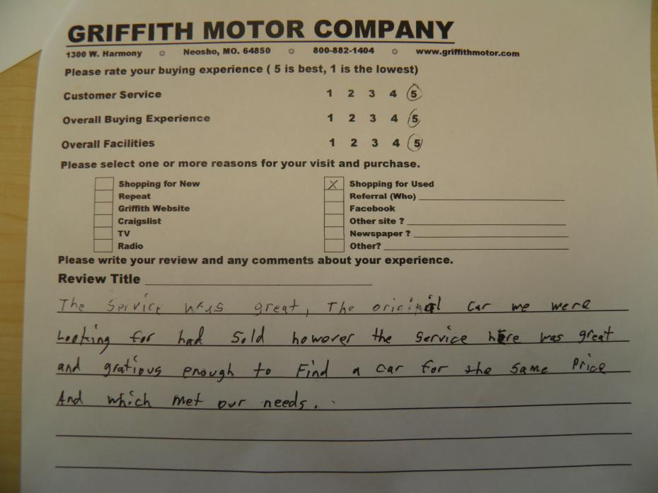 Griffith Motor Co review photo 2