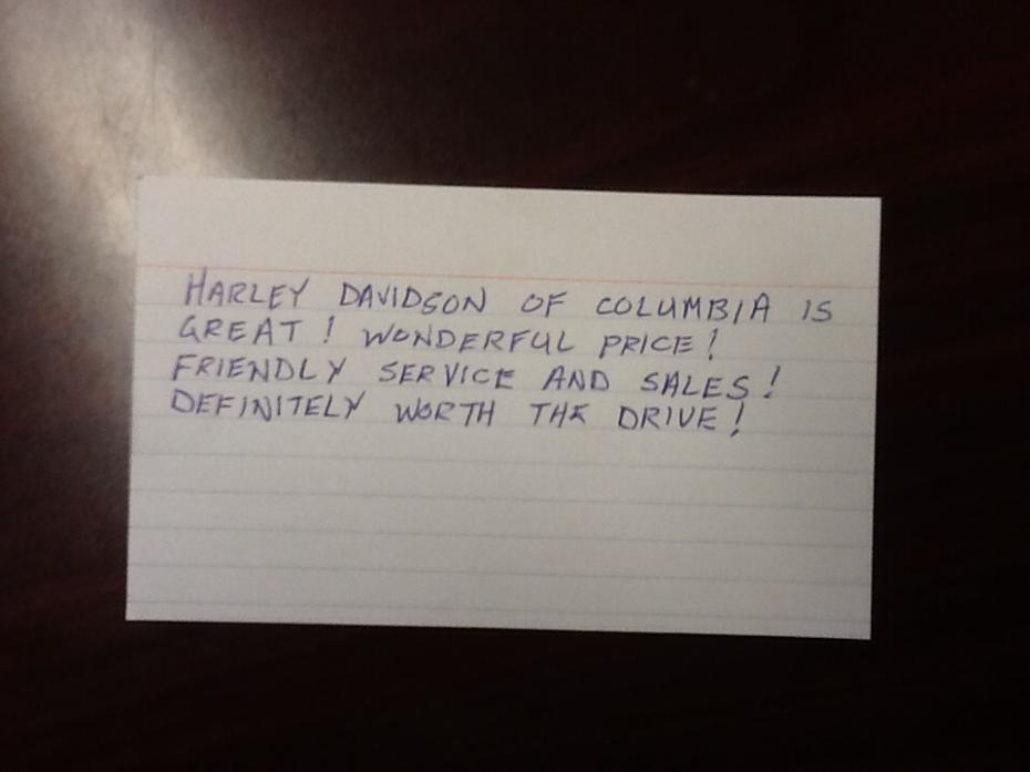 Harley Davidson of Columbia review photo 2