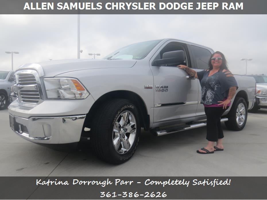 allen samuels chrysler dodge jeep ram customer rating review for katrina dorrough parr of. Black Bedroom Furniture Sets. Home Design Ideas