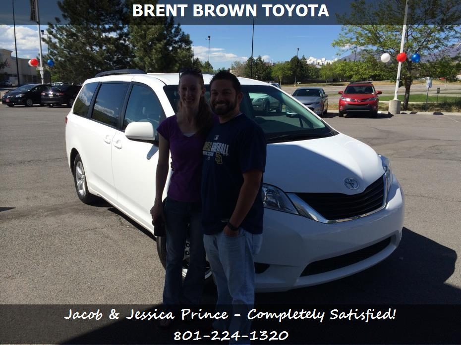 purchase a toyota sienna in orem ut brent brown toyota jacob jessica prince. Black Bedroom Furniture Sets. Home Design Ideas