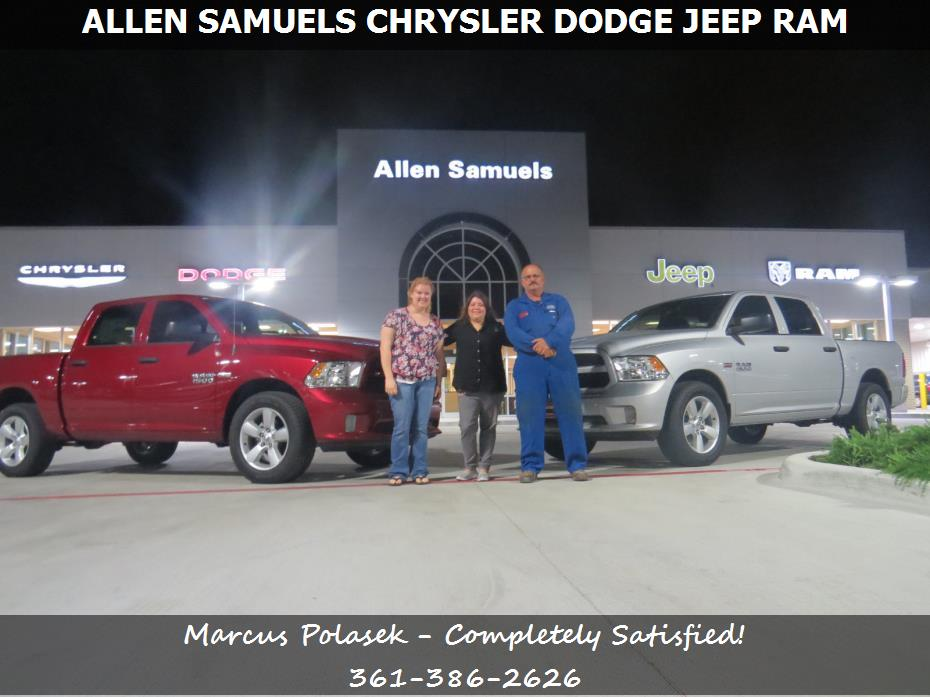 purchase a ram 1500 in aransas pass tx allen samuels chrysler dodge jeep ram marcus polasek. Black Bedroom Furniture Sets. Home Design Ideas