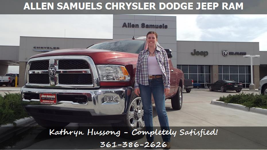 dealership reviews in aransas pass tx allen samuels chrysler dodge jeep ram kathryn hussong. Black Bedroom Furniture Sets. Home Design Ideas