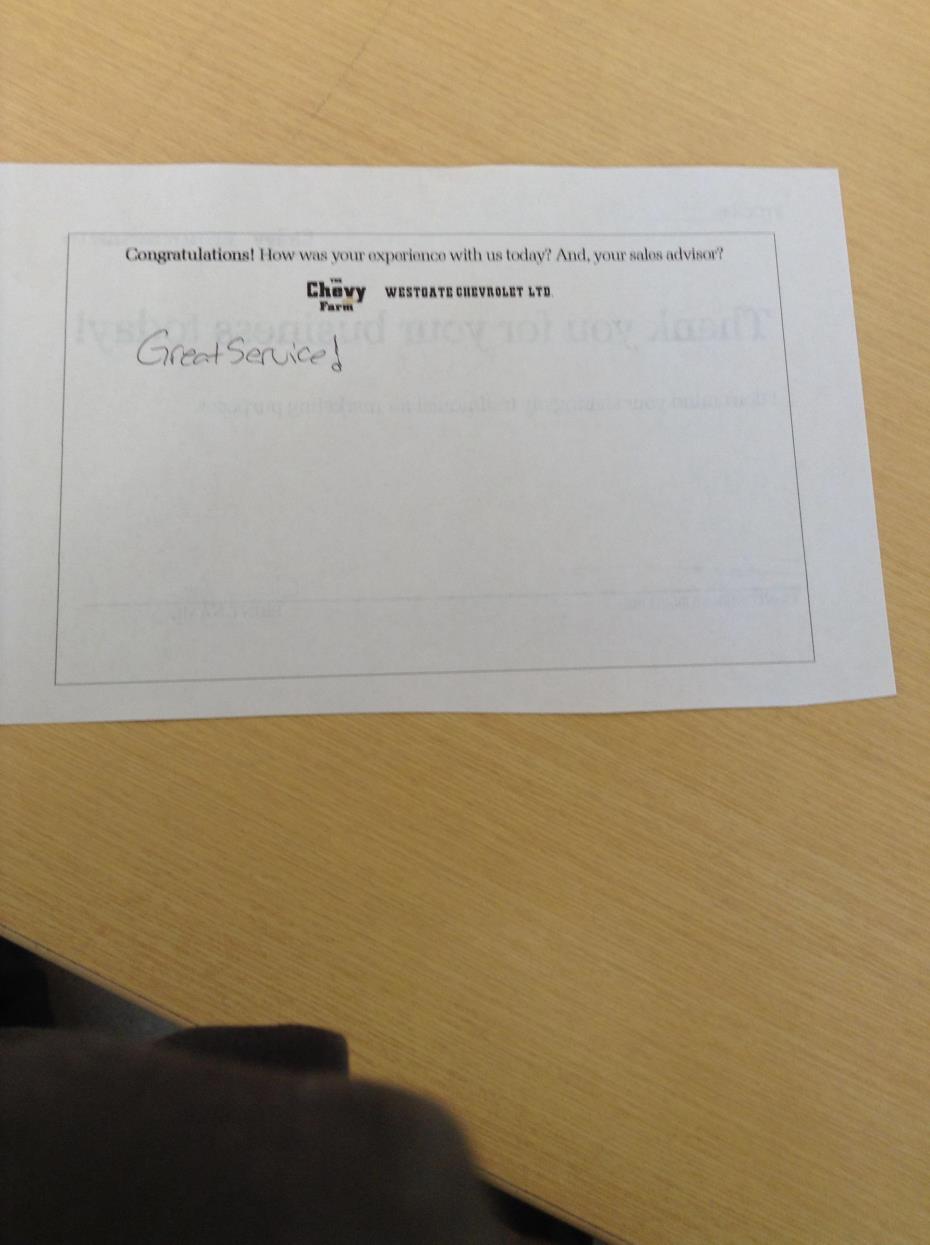 Westgate Chevrolet Ltd. review photo 2