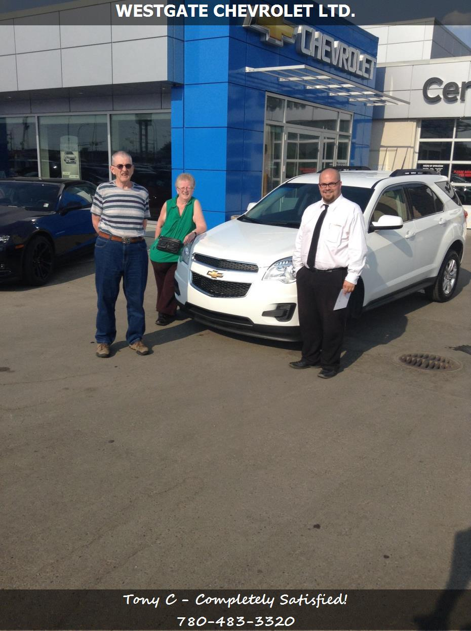 Westgate Chevrolet Ltd Customer Rating Review For Tony