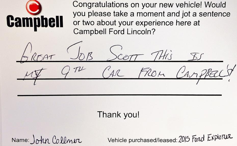 Campbell Ford Lincoln review photo 2
