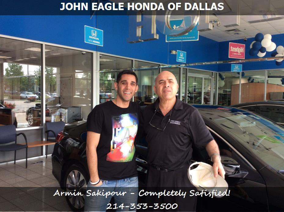 dealership reviews in dallas tx john eagle honda of dallas armin sakipour. Black Bedroom Furniture Sets. Home Design Ideas