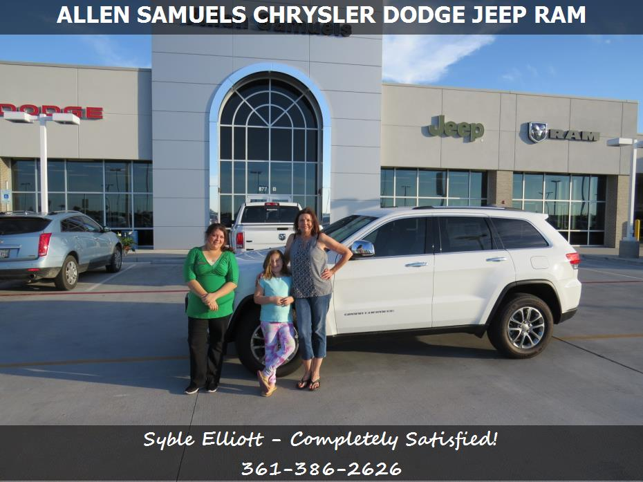 dealership reviews in aransas pass tx allen samuels chrysler dodge jeep ram syble elliott. Black Bedroom Furniture Sets. Home Design Ideas