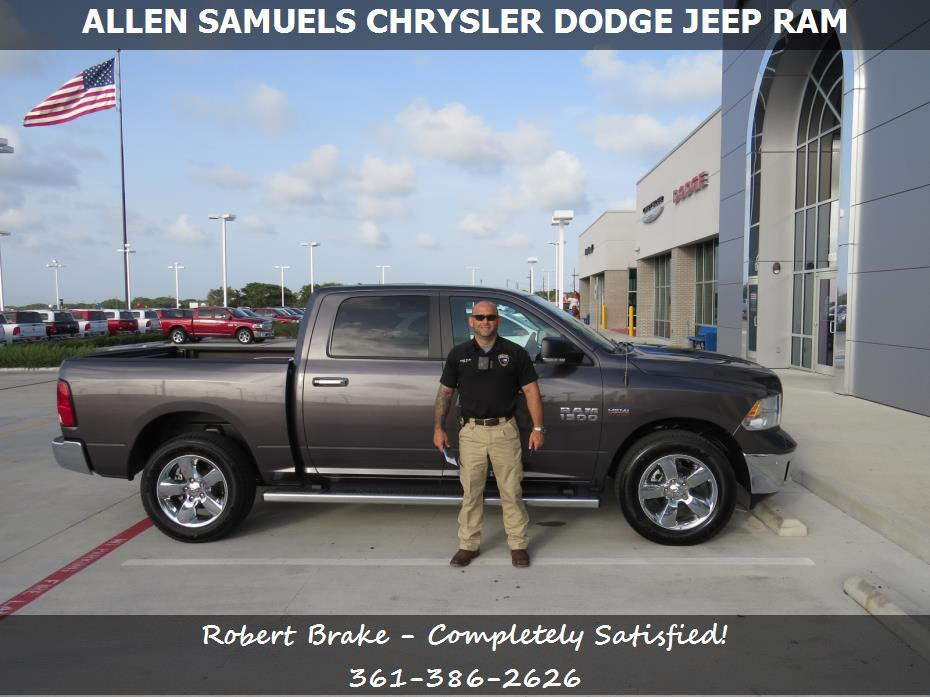 dealership reviews in aransas pass tx allen samuels chrysler dodge jeep ram robert brake. Black Bedroom Furniture Sets. Home Design Ideas