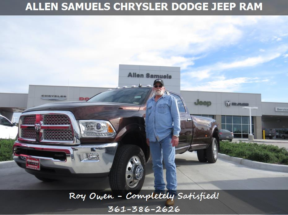 allen samuels chrysler dodge jeep ram customer rating review for roy owen of fulton tx. Black Bedroom Furniture Sets. Home Design Ideas