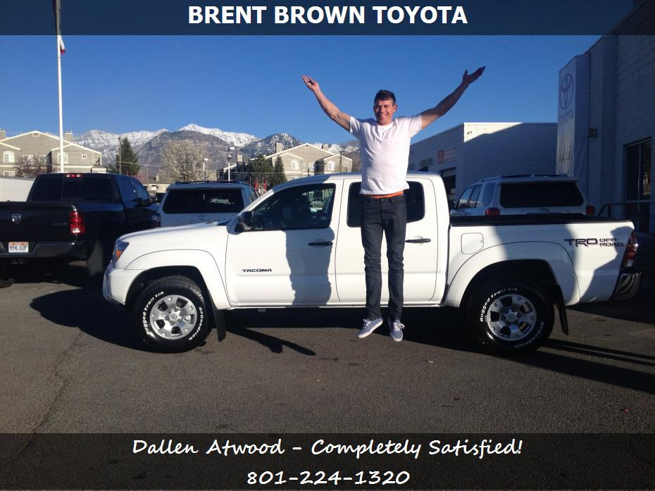 purchase a toyota tacoma in orem ut brent brown toyota dallen atwood. Black Bedroom Furniture Sets. Home Design Ideas