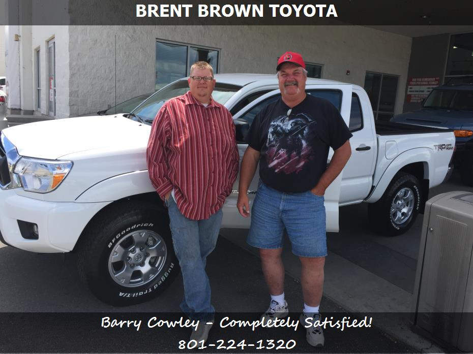 brent brown toyota customer rating review for barry cowley of huntington ut. Black Bedroom Furniture Sets. Home Design Ideas