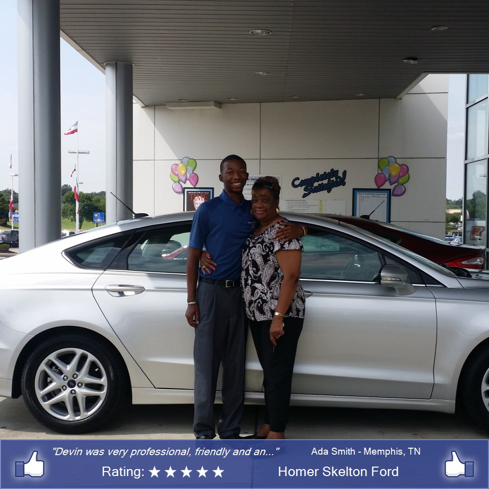 Homer skelton ford customer rating review for ada smith for Best deal motors memphis tn