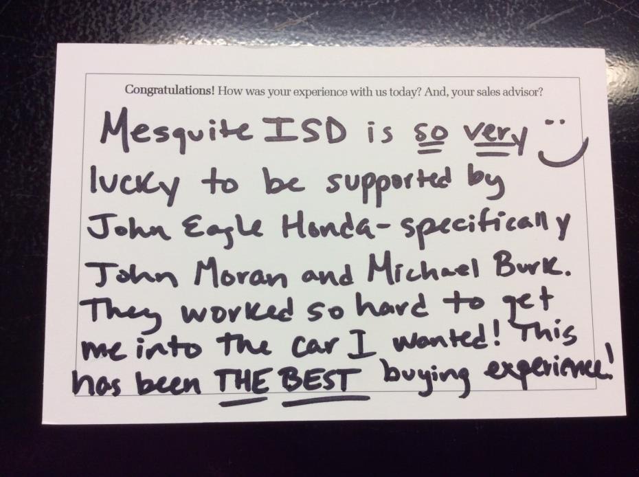 John Eagle Honda of Dallas review photo 2