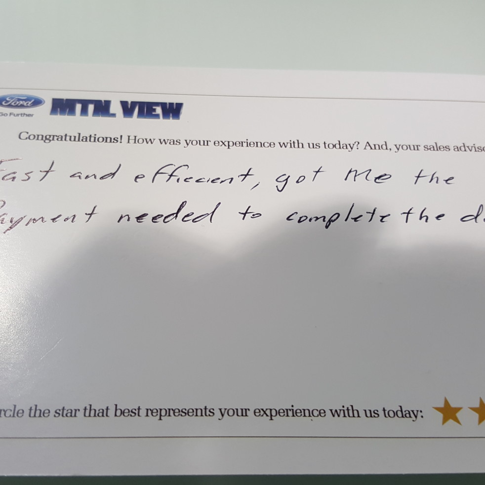 Mountain View Ford Lincoln review photo 2