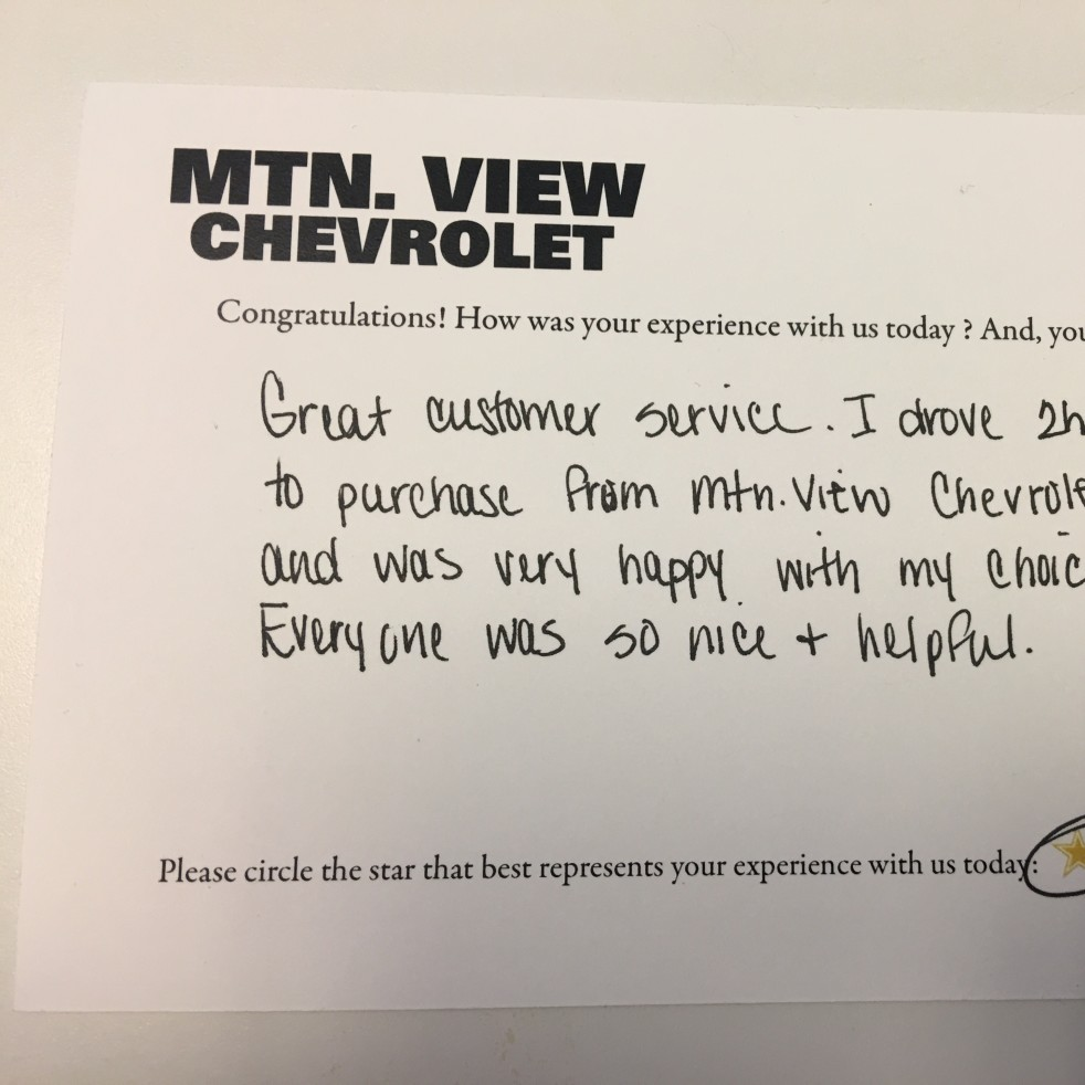 Mountain View Chevrolet review photo 2