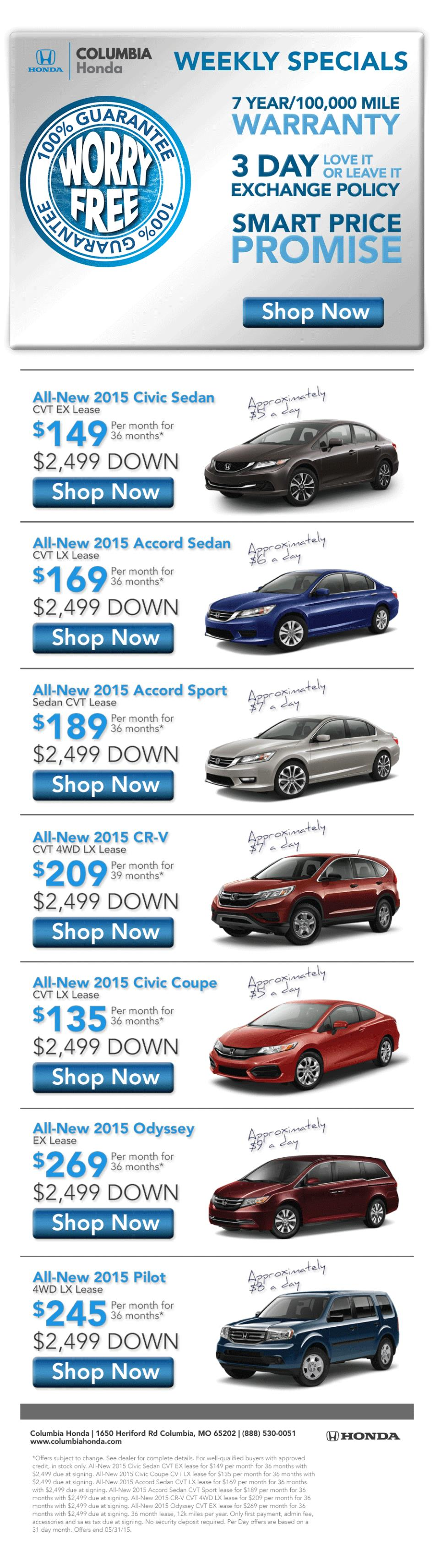 Columbia Honda Deals