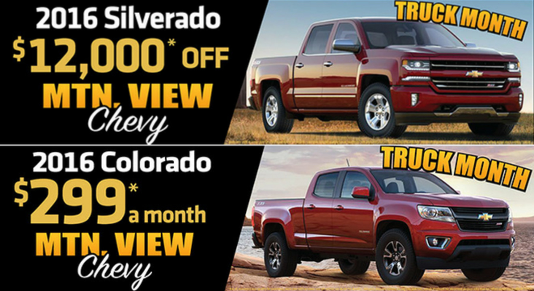 Mountain View Chevrolet Deals